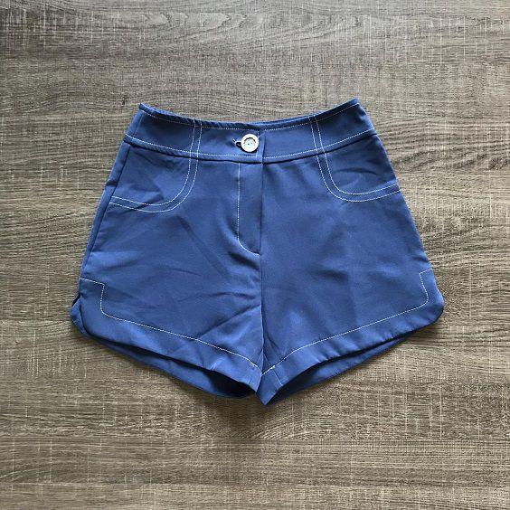 Shorts Crepe Pesponto