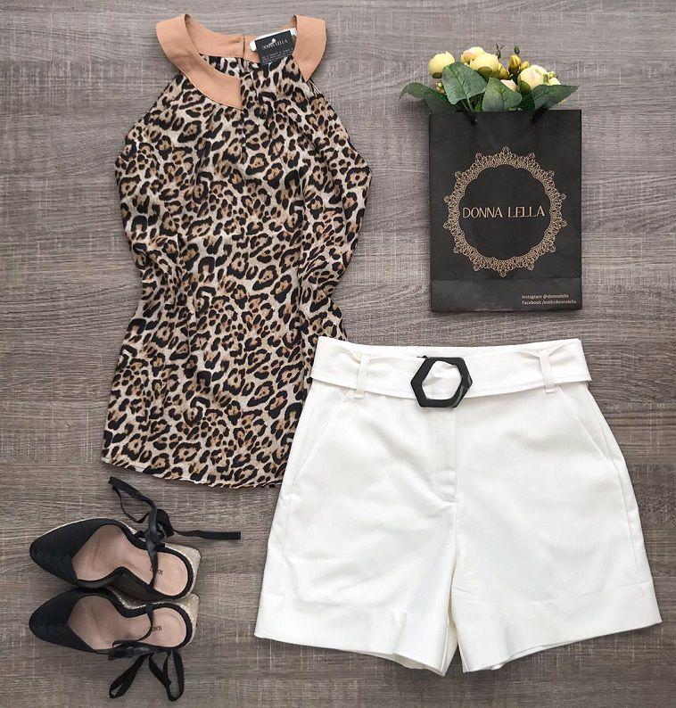 Shorts Offwhite com Cinto