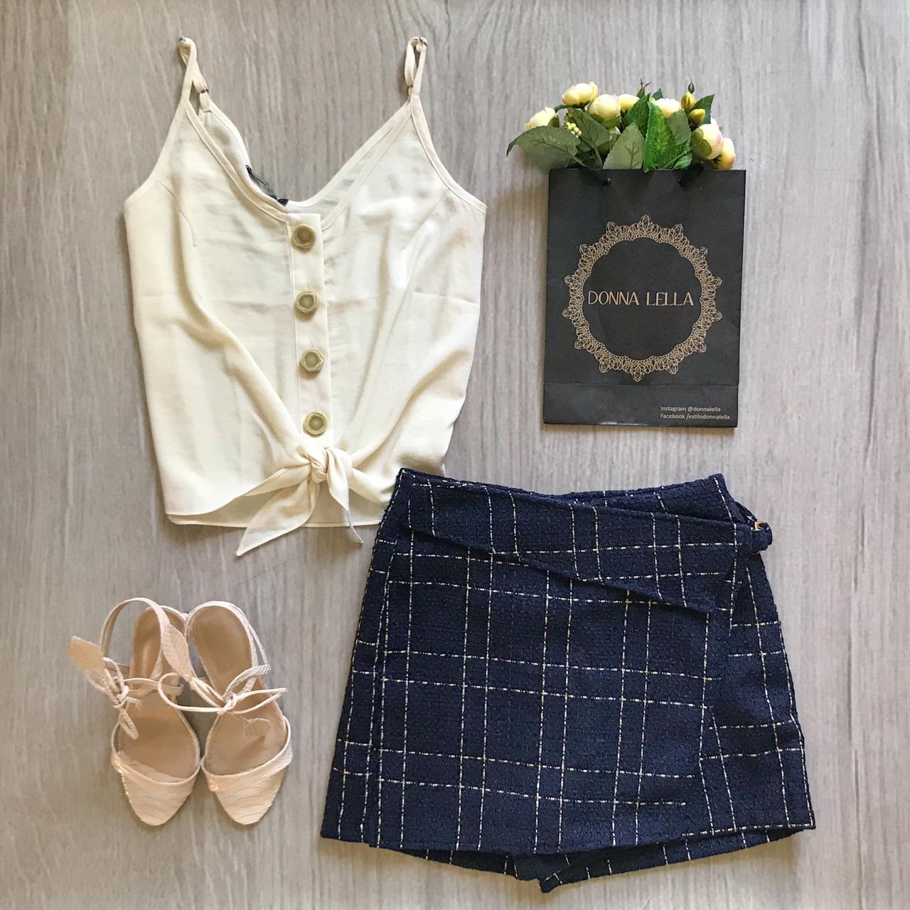 Shorts Saia Tweed Marinho