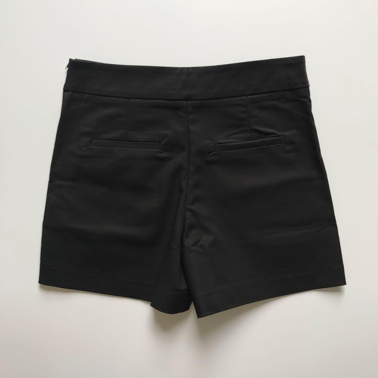Shorts Sarja Alfaiataria Preto