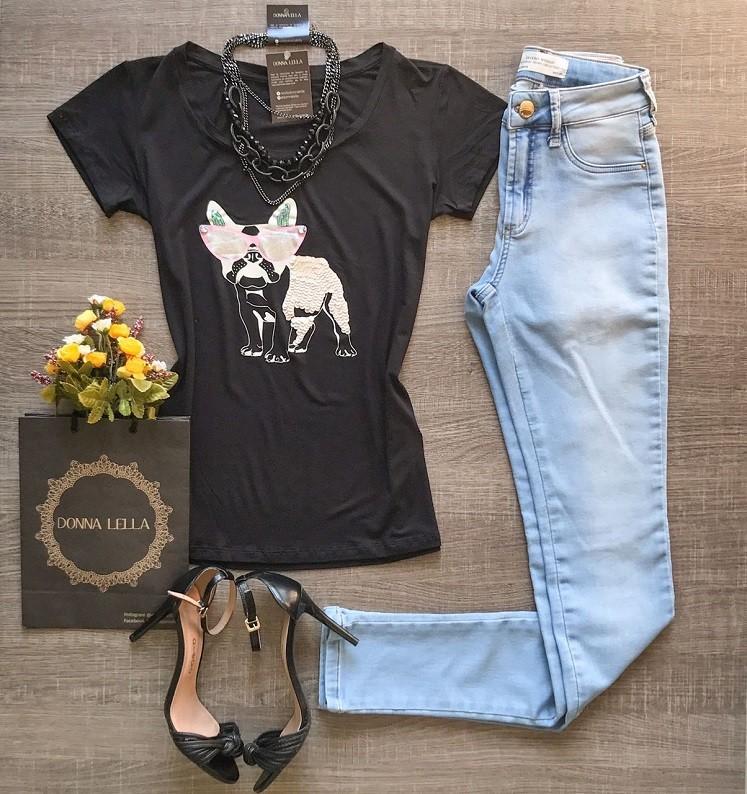 Tshirt Bordada Dog Style