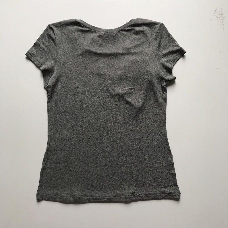 Tshirt Cinza Bordada