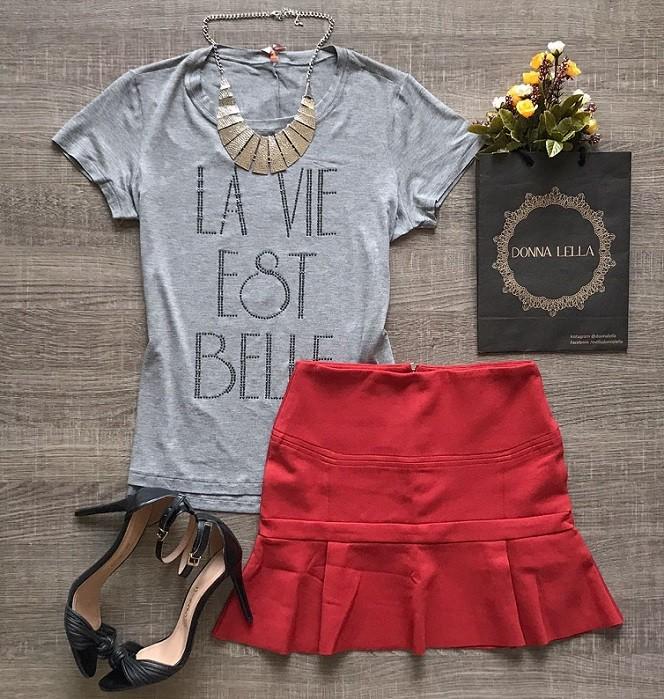 Tshirt Cinza La Vie Est Belle