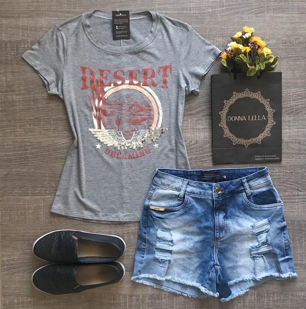 Tshirt Los Angeles Cinza