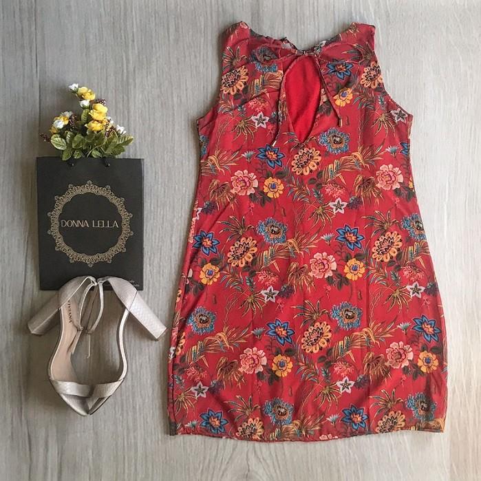 Vestido Crepe Estampado Floral