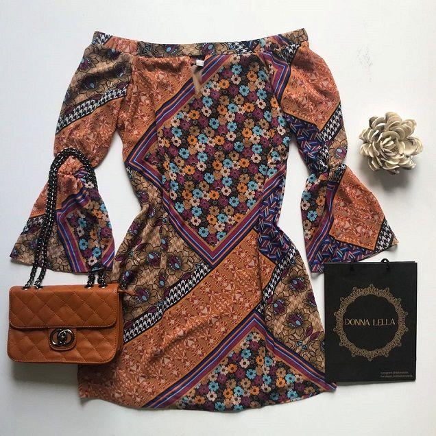 Vestido Estampa Boho