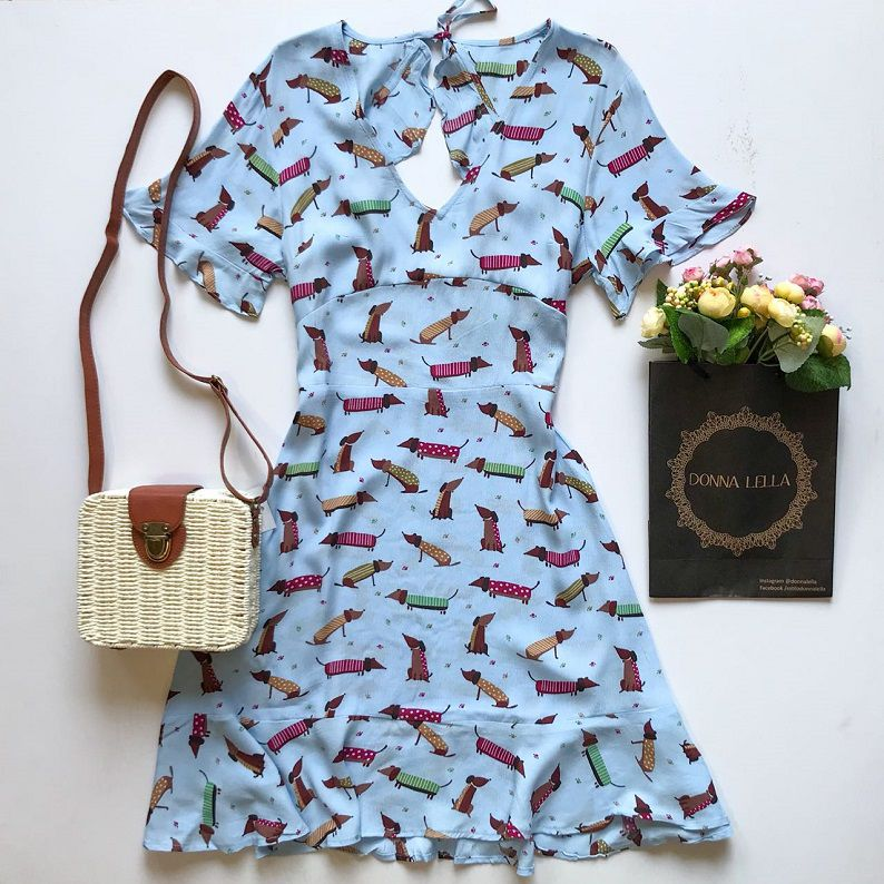 Vestido Estampa Dog