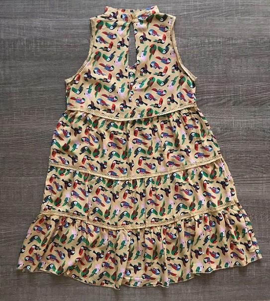Vestido Estampa Papagaio