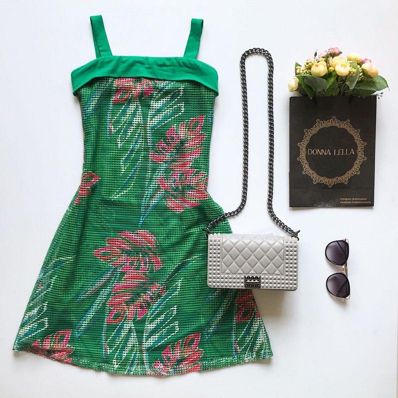 Vestido Estampado Tela