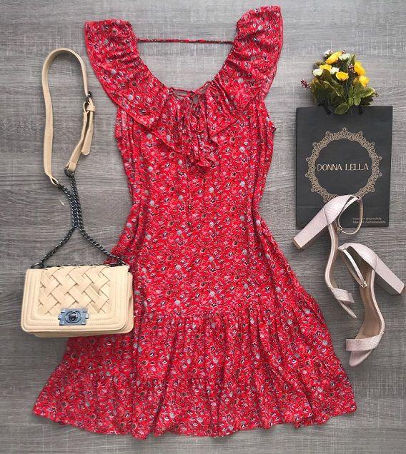 Vestido Floral Babado
