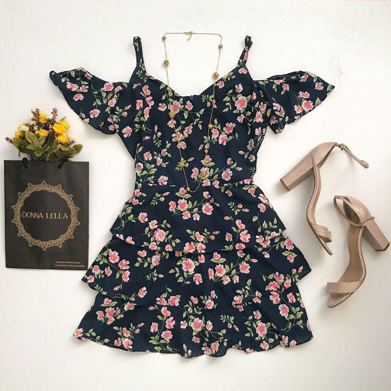 Vestido Floral Offshoulder