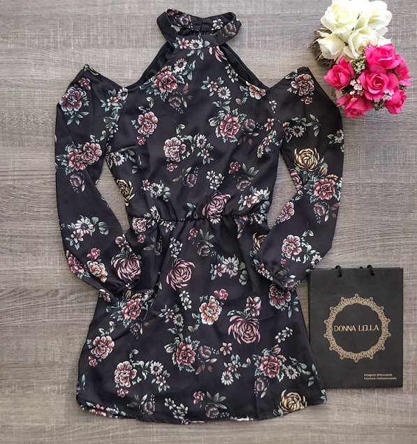 Vestido Floral Ombros de Fora