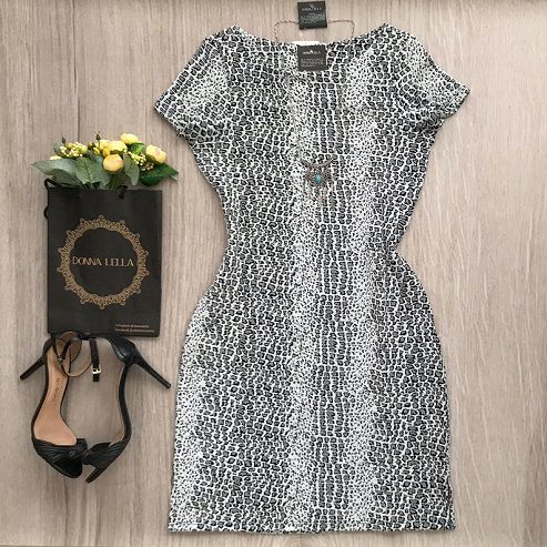 Vestido Jacquard Animal Print