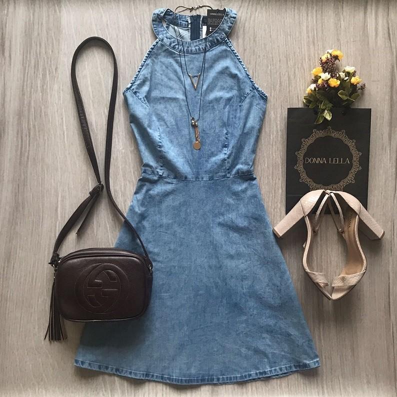 Vestido Jeans Evasê