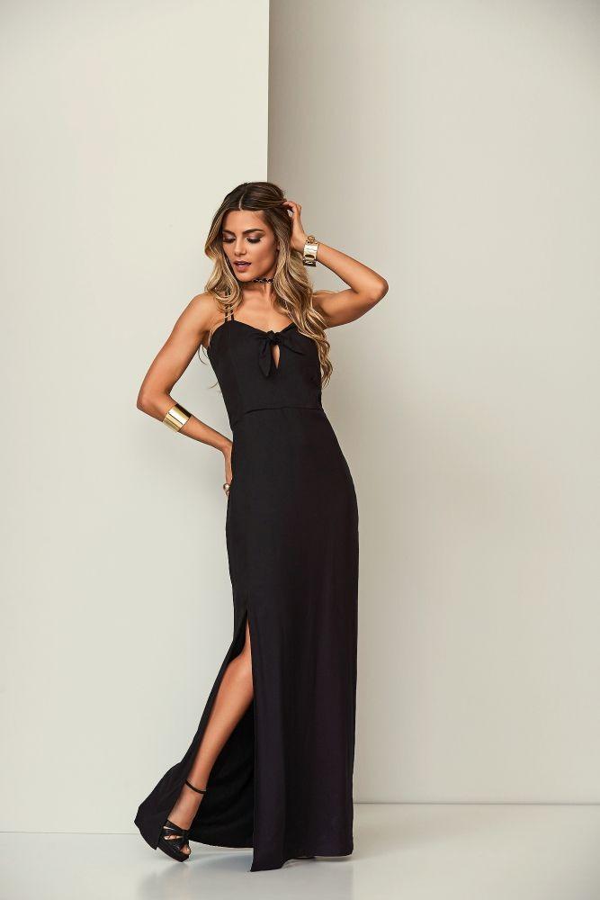 Vestido Grécia Longo Preto
