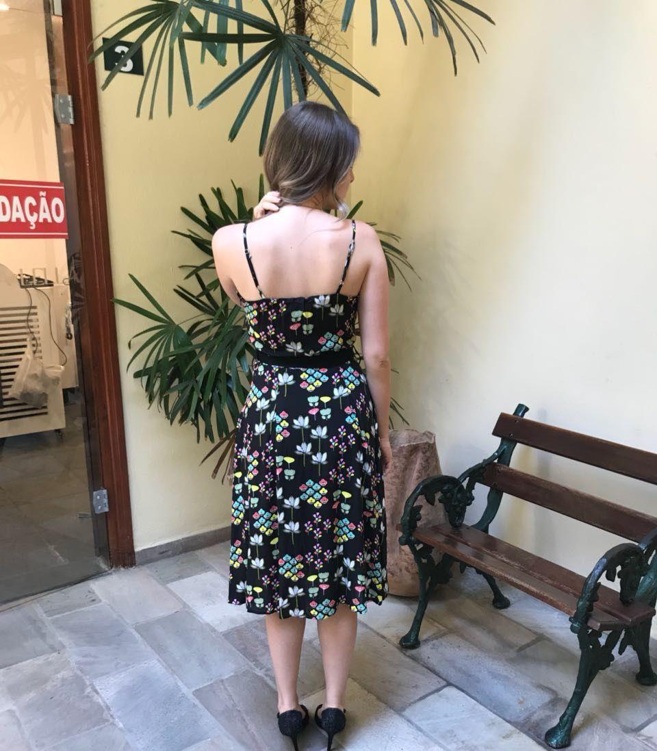 Vestido Midi Transpassado