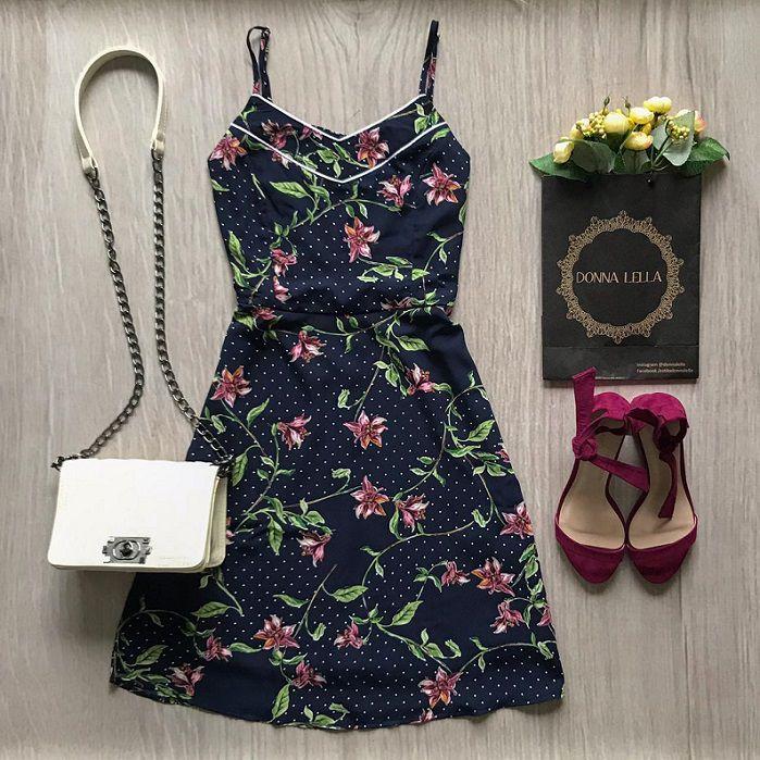 Vestido Mix Poá Floral