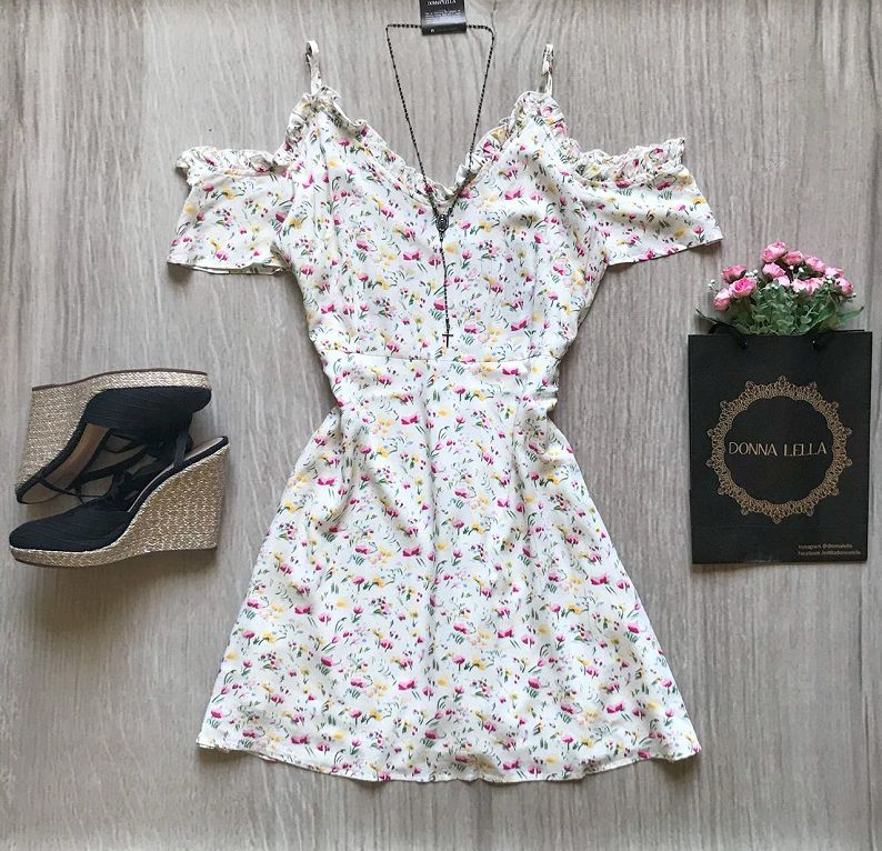 Vestido Offshoulder floral