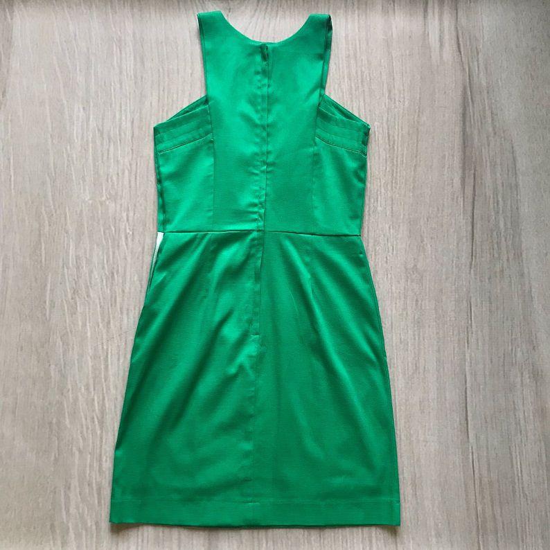 Vestido Piquet Verde Com Cinto