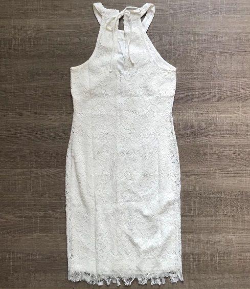Vestido Renda Gola Americana