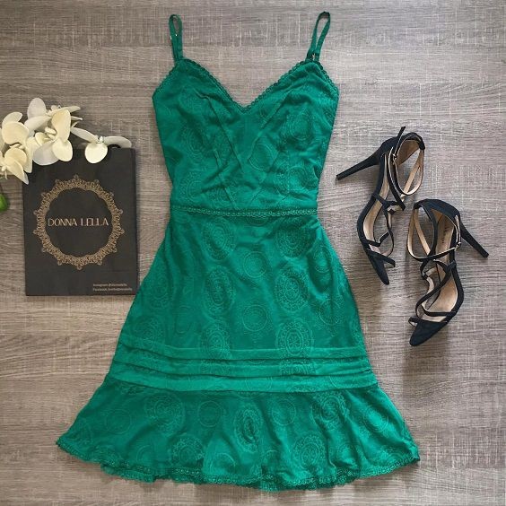 Vestido Renda Verde