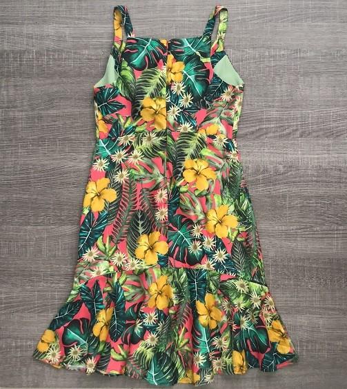 Vestido Tropical Decote Nó