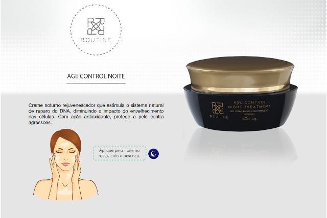 AGE CONTROL NIGHT TREATMENT - GEL CREME FACIAL CONCENTRADO NOTURNO 30G