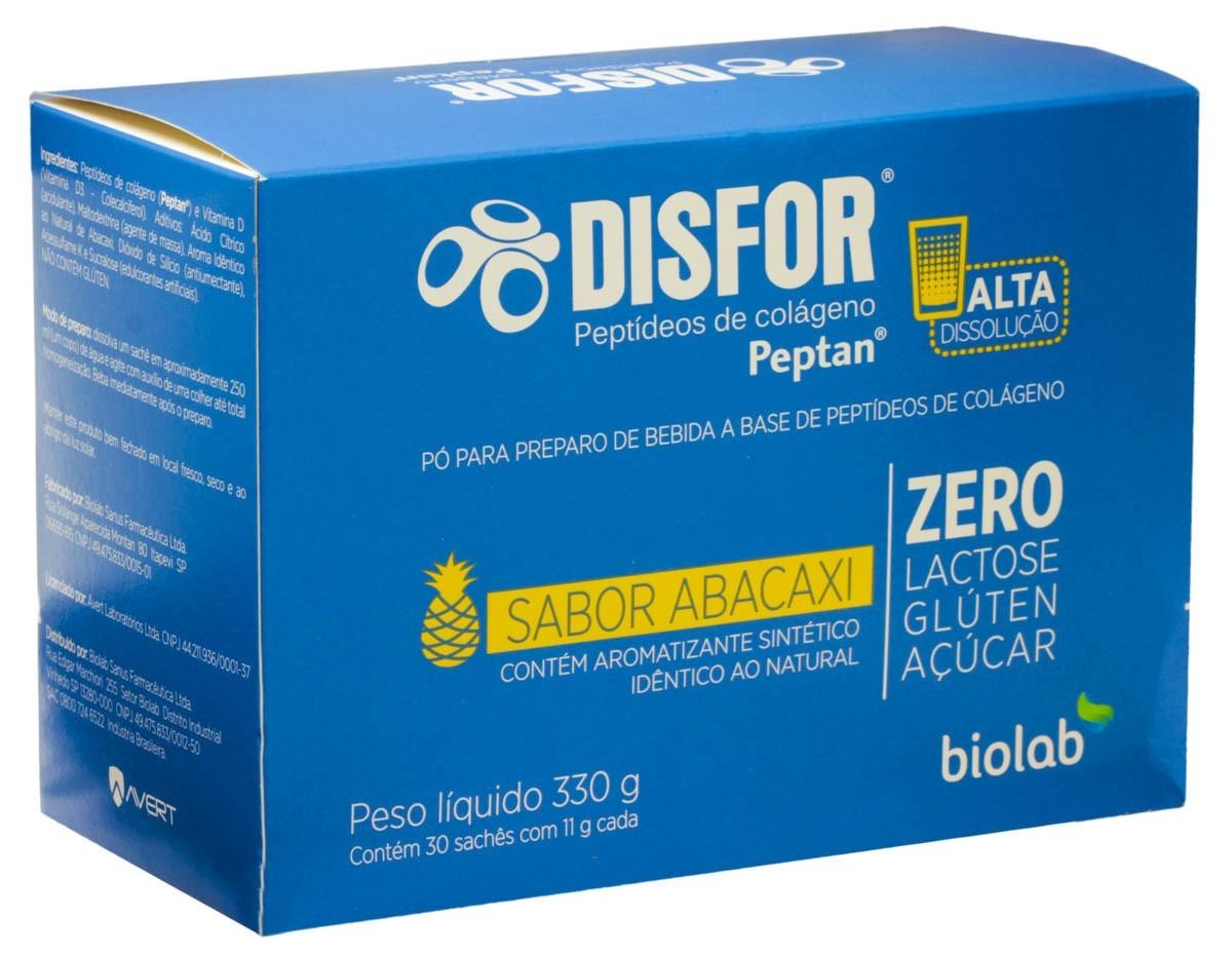 Disfor Peptídeos De Colágeno Peptan Sabor Abacaxi 30 ENV (GRÁTIS + 15 ENV)