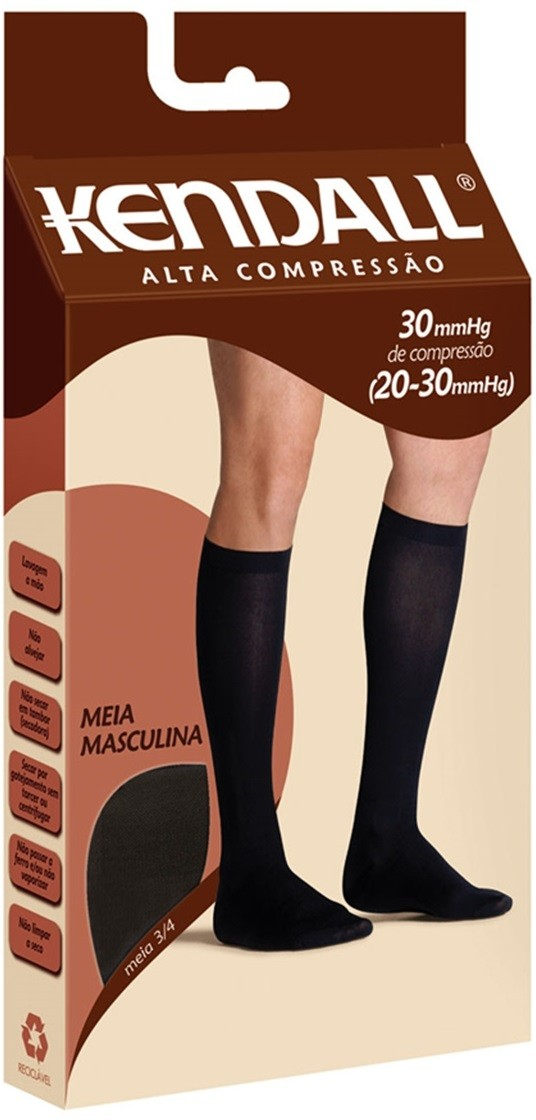 Kendall Meia 3/4  Alta Compressão Masculina (20-30 mmhg)