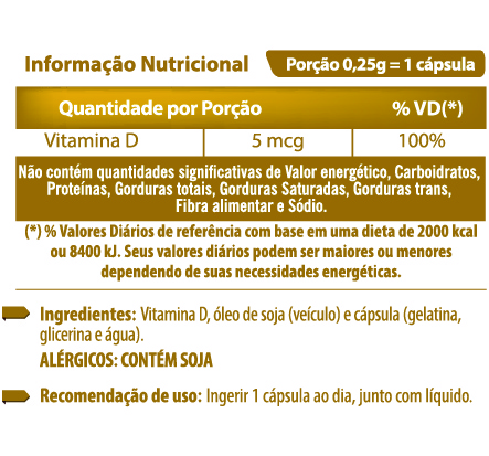 VITAMINA D 60 CÁPSULAS DE 250MG - FORTVITTA