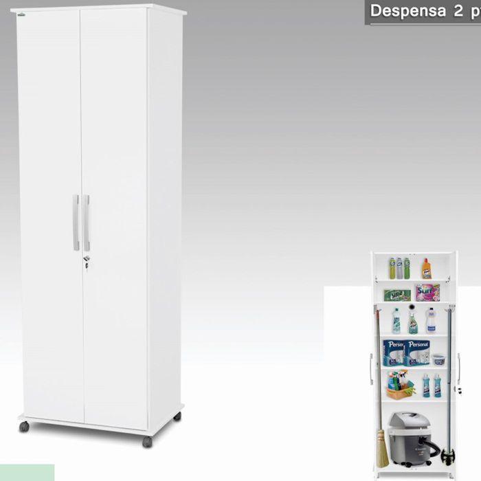Armário Despensa 02 Portas Branco