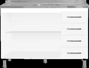 Balcão Para Pia 1,20m Branco Moveispar