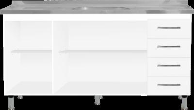 Balcão Para Pia 1,60m Branco Moveispar