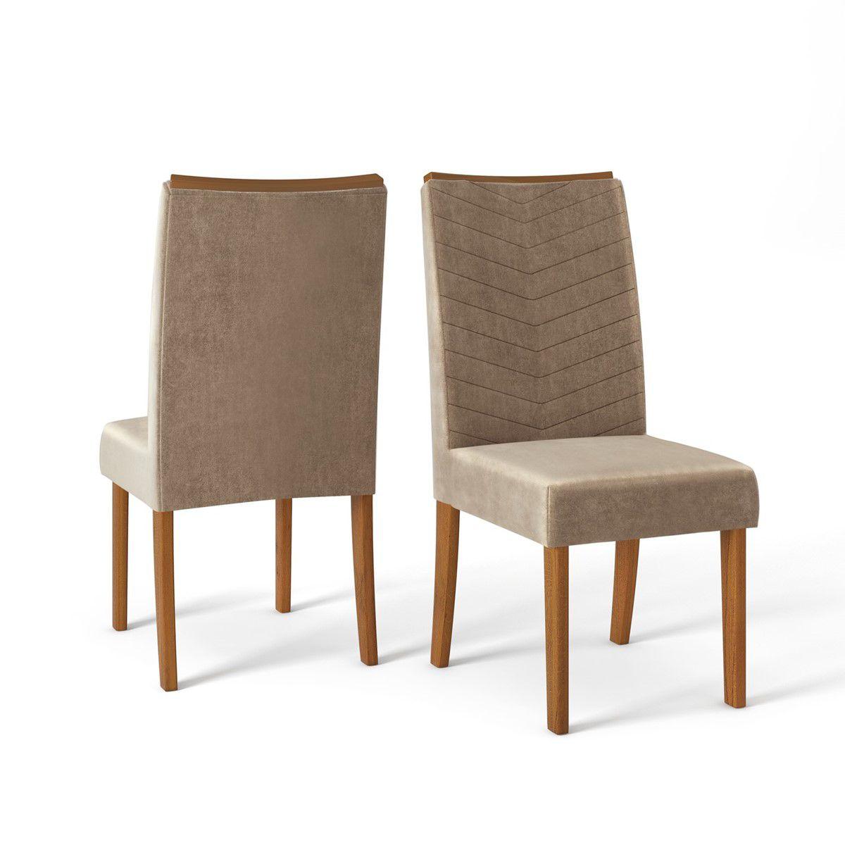 Conjunto Sala de Jantar 6 Cadeiras DJ Móveis (Rouge 1700x900|Serena|Rústico Terrara|Off White|Veludo Kraft)