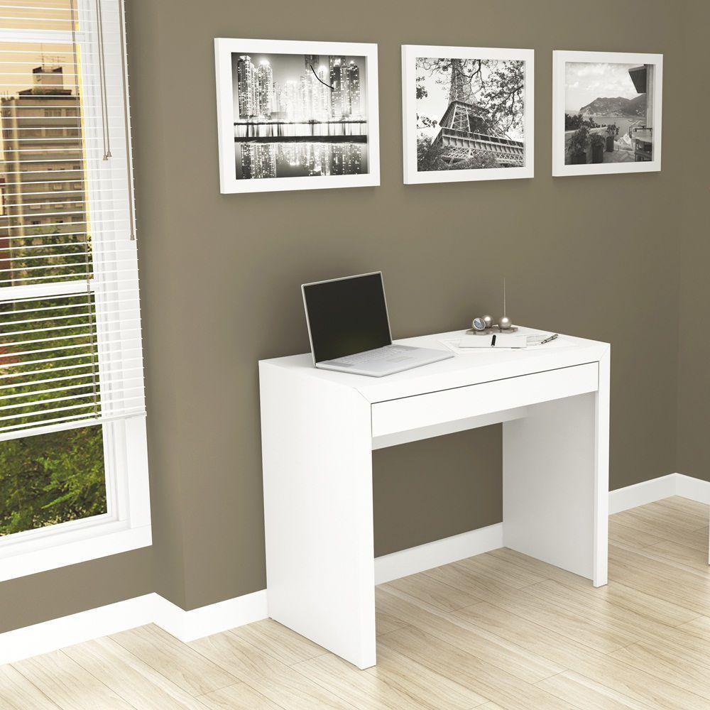Escrivaninha com Gaveta Branco ME 4107