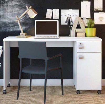 Escrivaninha Office Malta Branco Lukaliam Móveis