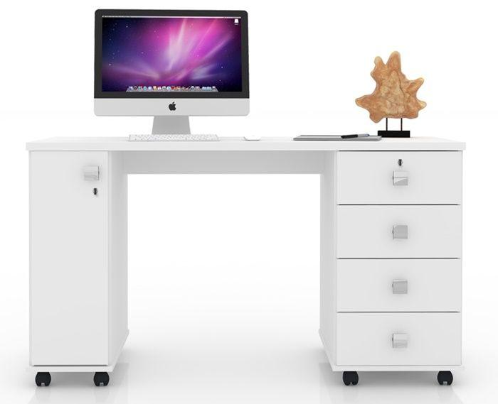 Escrivaninha Office Smart Branco Lukaliam Móveis