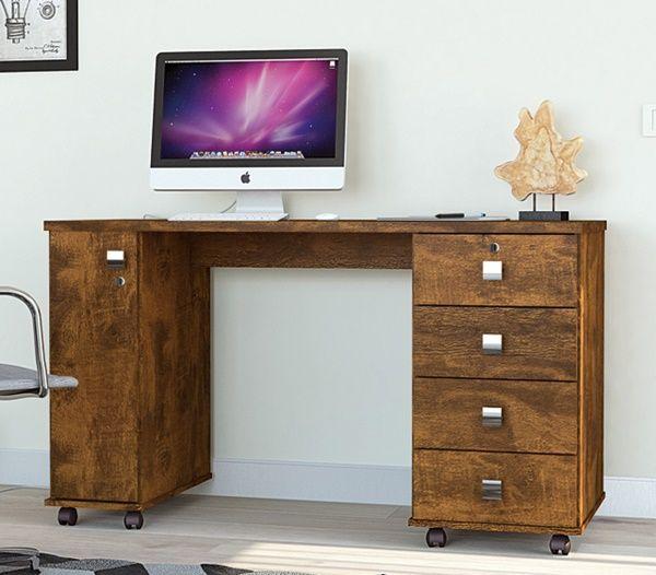 Escrivaninha Office Smart Canela Lukaliam Móveis