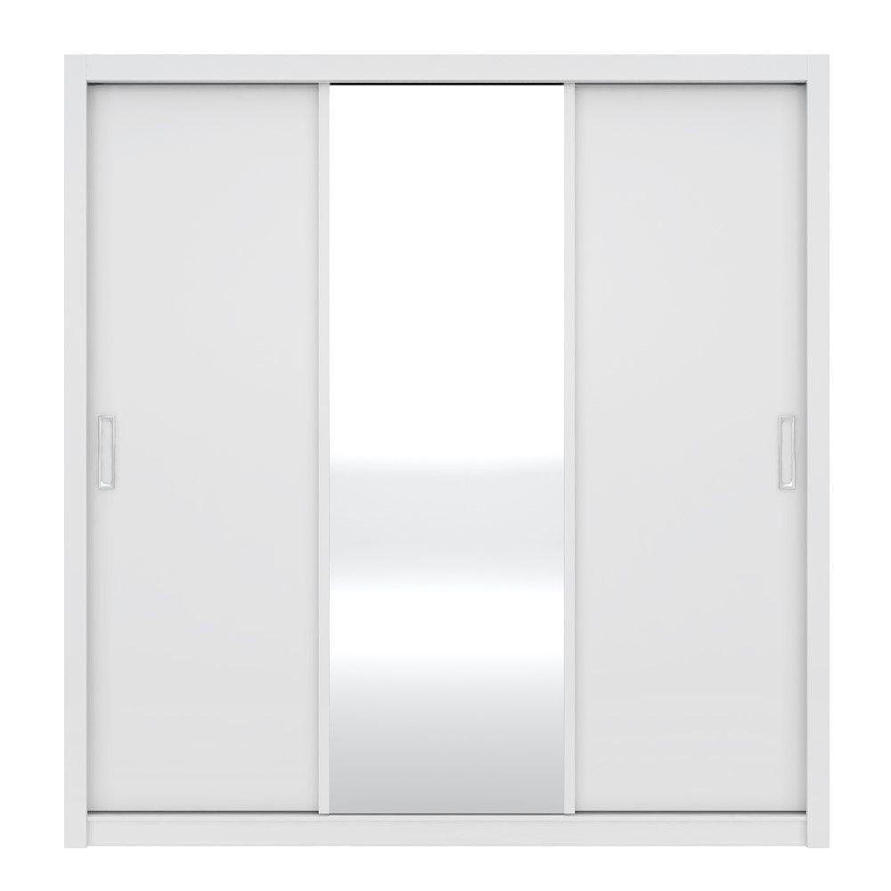 Guarda Roupas Residence 03 Portas de Correr Branco Demóbile