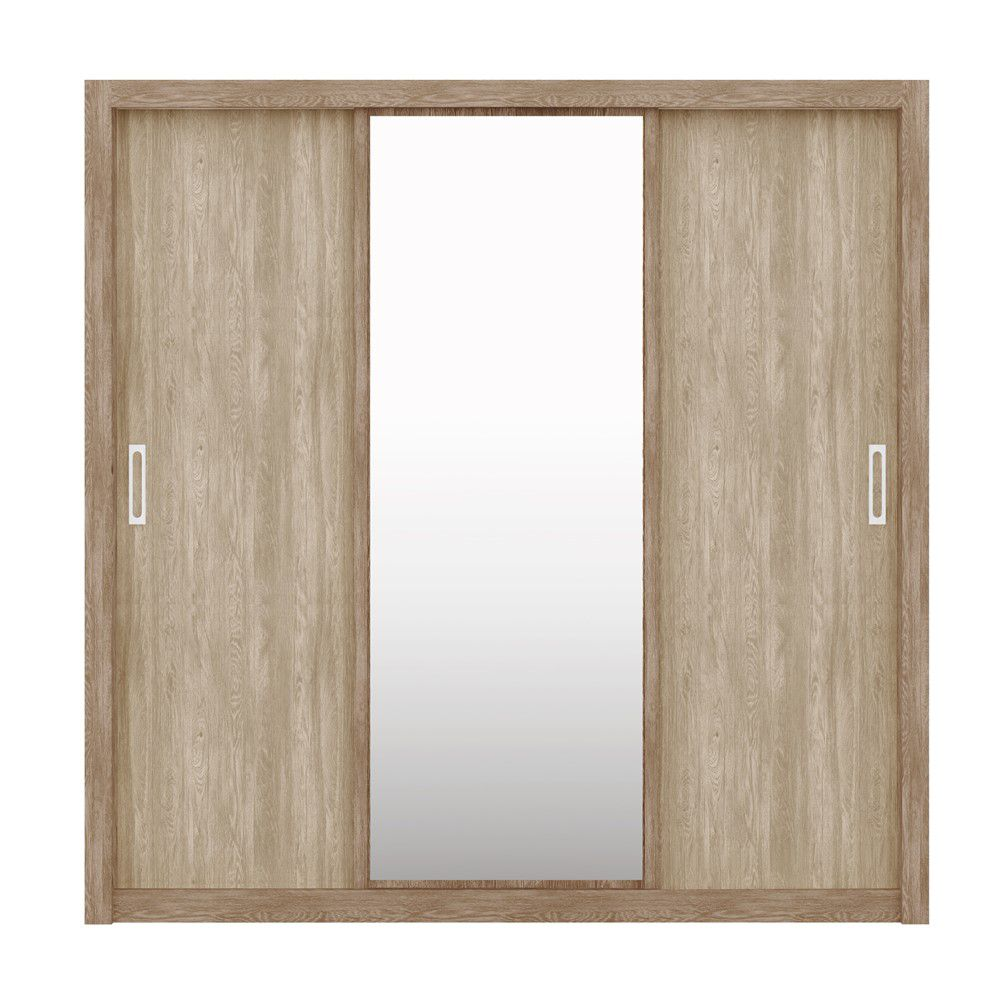 Guarda Roupas Residence 03 Portas de Correr Nogal/Vanilla Demóbile