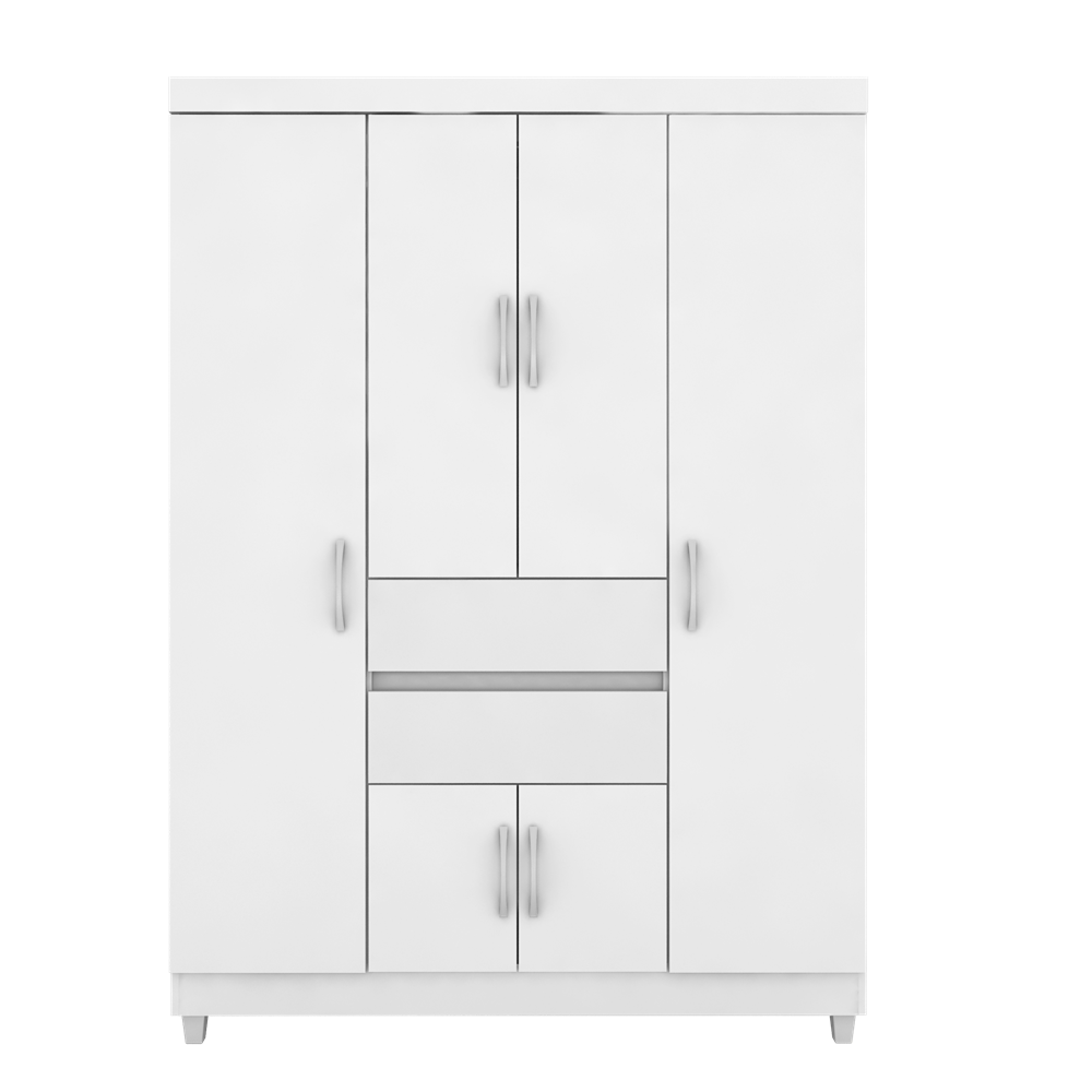 Guarda Roupas Ecom II 06 Portas Branco/Rosa Flex Demóbile