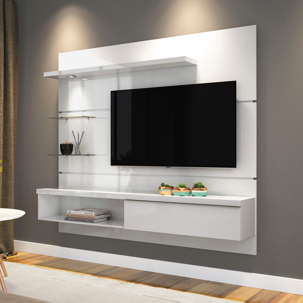 """Home Suspenso Para TV até 55"""" Branco Ores 1.8 HB"""