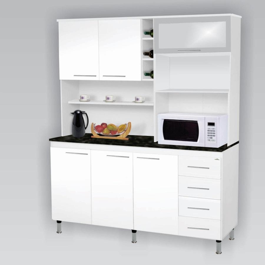 Kit Cozinha 1,60 Ideal Branco / Branco