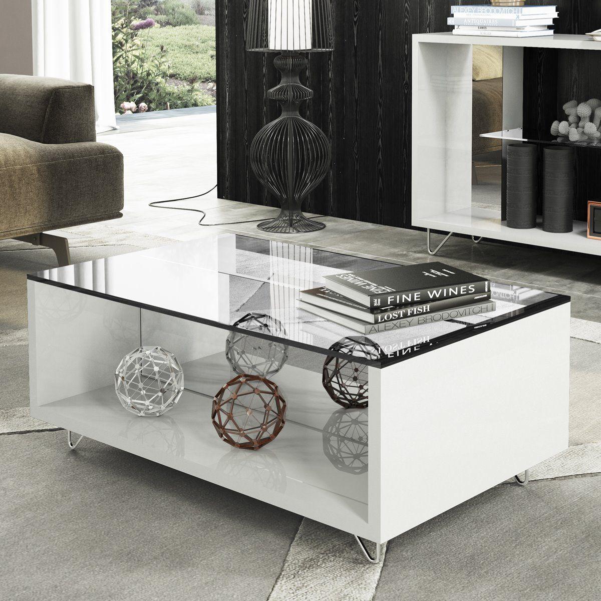 Mesa de Centro Charmy HB Móveis Branco