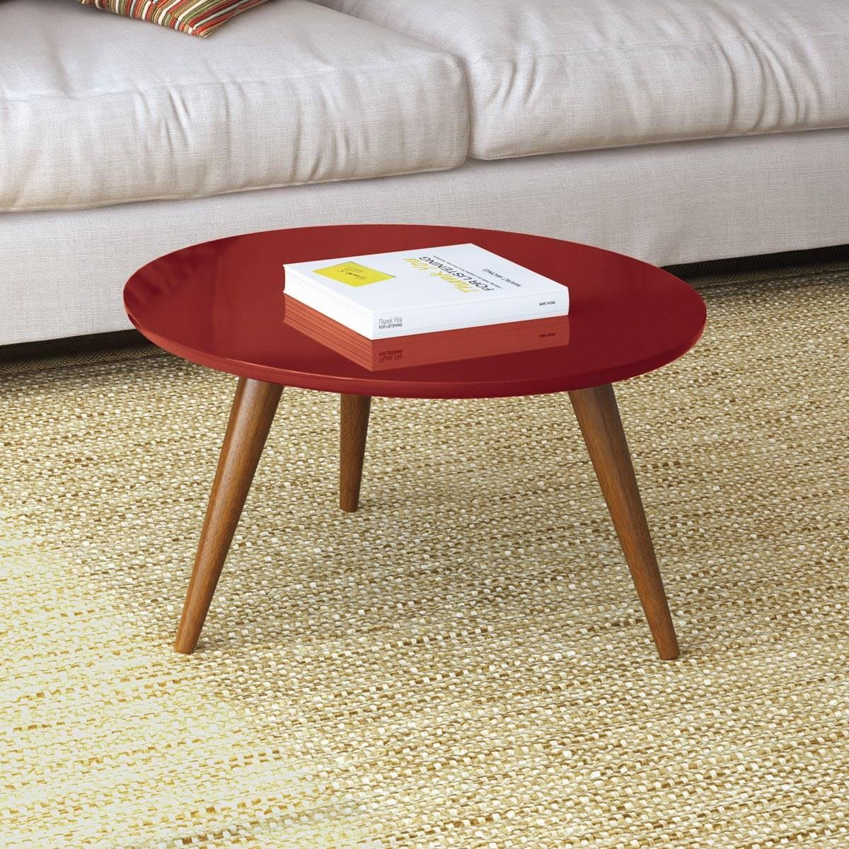 Mesa de Centro Sorelle HB Móveis Vermelho