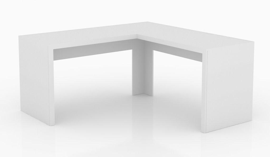 Mesa De Escritório Angular Branco ME4116 Tecno Mobili