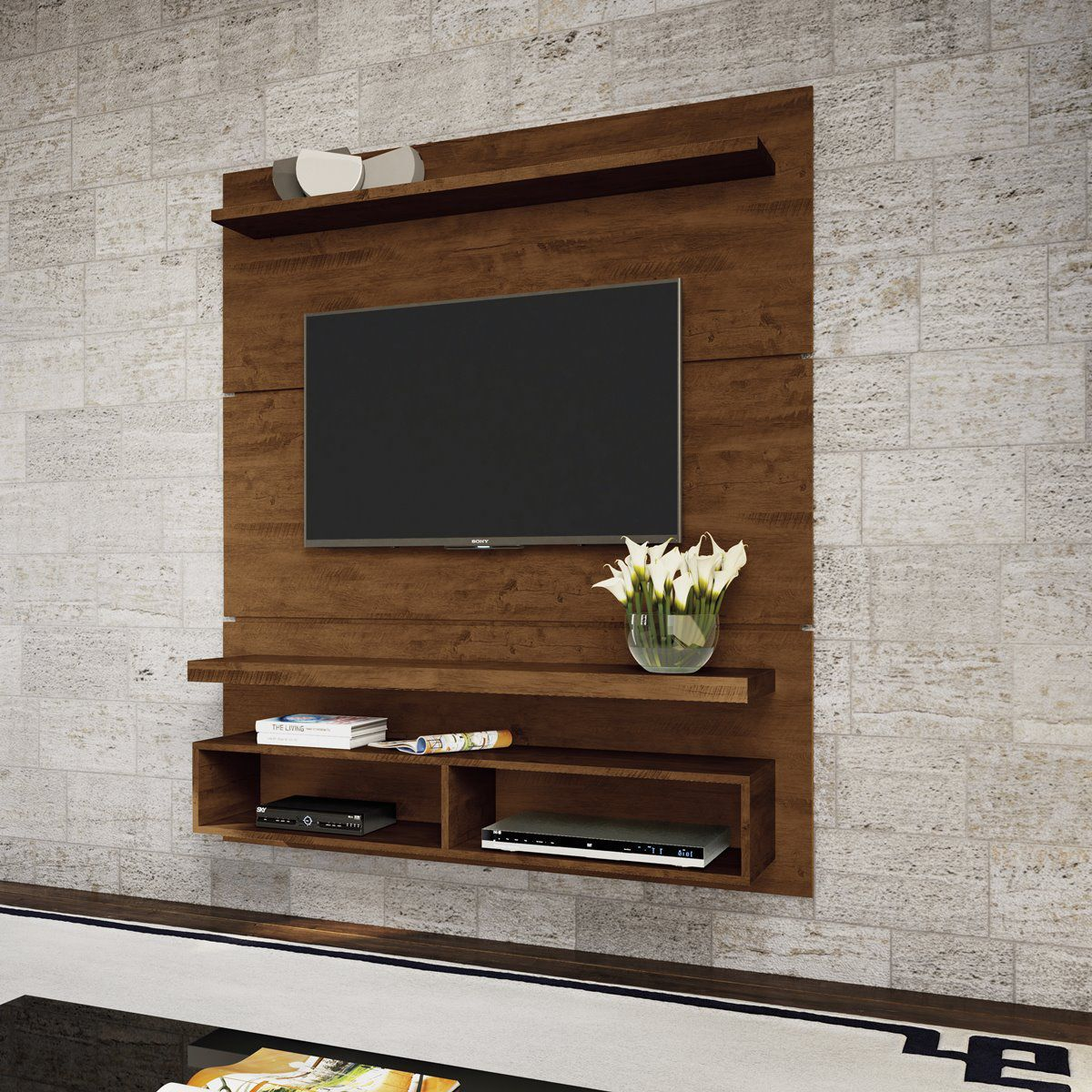 """Painel p/ TV 50"""" Home Suspenso Life 1.3 HB Móveis Canyon"""