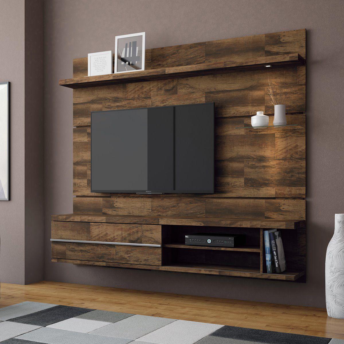 """Painel p/ TV 55"""" Home Suspenso Epic HB Móveis Deck"""