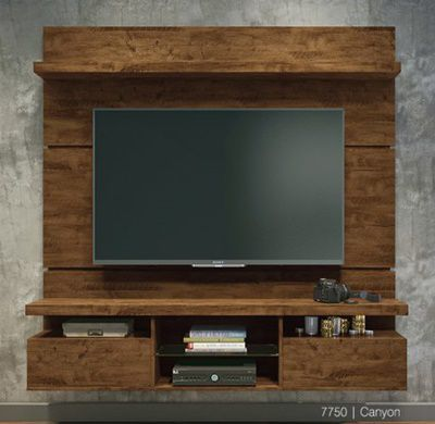 "Painel p/ TV 55"" Home Suspenso Livin 1.6 HB Móveis Canyon"