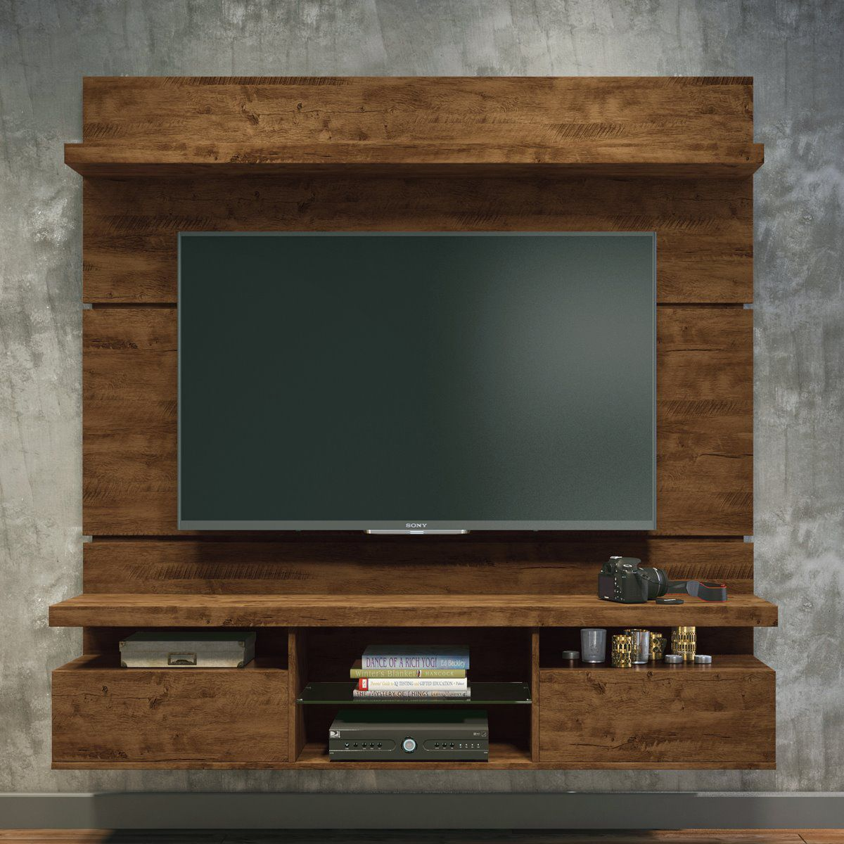 "Painel p/ TV 55"" Home Suspenso Livin 1.8 HB Móveis Canyon"